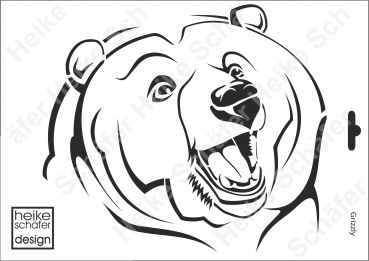 Schablone-Stencil A4 118-1084 Grizzly