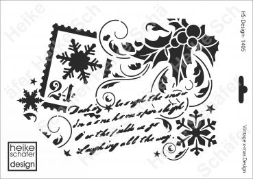 Schablone-Stencil A4 079-1230 Pixel Hirsch Heike Schäfer Design Neu