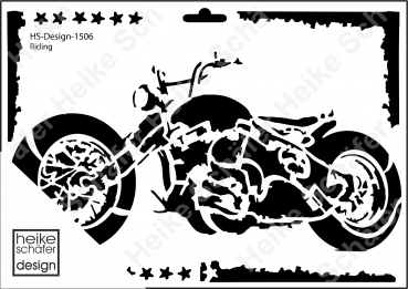 Schablone-Stencil A4 023-1506 Riding