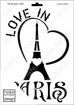 Schablone-Stencil A4 074-1582 Love in Paris