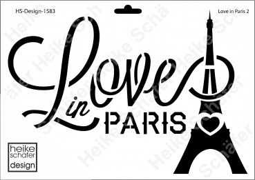 Schablone-Stencil A4 058-1583 Love in Paris 2