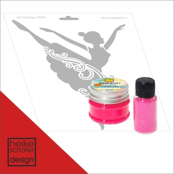 "Fashion Set ""Ballerina"" in Neon Pink 3-teilig (200404)"