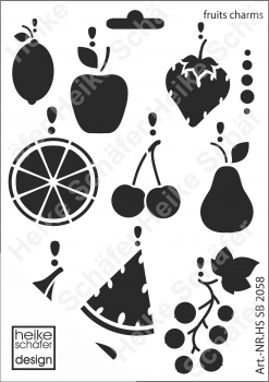 Schablone-Stencil A5 002-2058 Fruits Charms