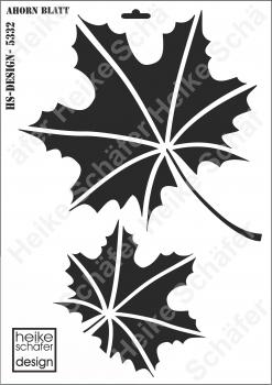 Schablone-Stencil A3 313-5332 Ahorn Blatt Neu Heike Schäfer Design