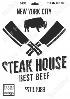 Schablone-Stencil A3 110-5435 Steak House