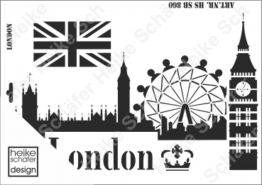 Schablone-Stencil A3 226-0860 London