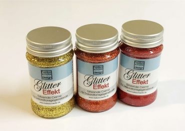 Gold-Orange-Rot, Glitter Effekt Creme Set, 3x90g