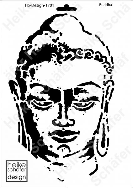 Schablone-Stencil A4 036-1701 Buddha Heike Schäfer Design Neu