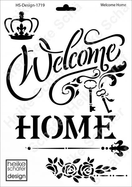Schablone-Stencil A4 204-1719 Welcome Home